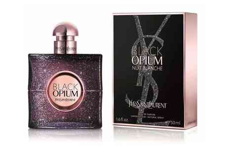 Groupon Goods Global GmbH - YSL Black Opium Nuit Blanche Eau de Parfum 50ml With Free Delivery - Save 11%