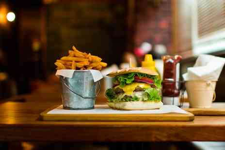 Firewood Grill & Gelato - Choice of Burger and Fries for Up to Four - Save 43%