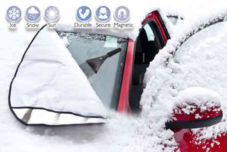 Craze UK - Magnetic windscreen cover and ice scraper - Save 70%