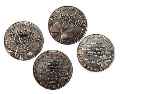 Direct 2 Publik - Engraved lucky coin choose from 14 designs - Save 75%