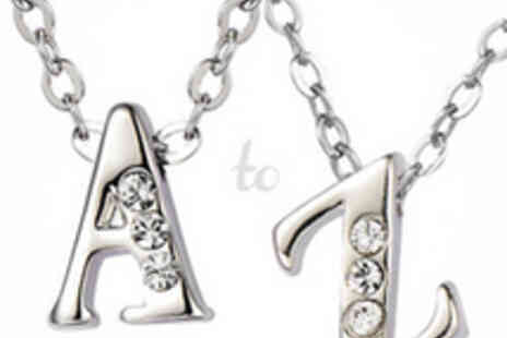 Neverland Sales - Initial Crystal Necklace with Delivery - Save 72%