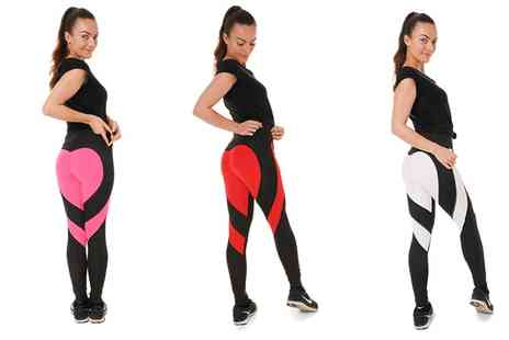 Groupon Goods Global GmbH - One, Two or Three Pairs of Dry Fit Heart Sports Leggings - Save 73%