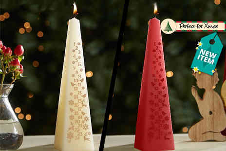 Direct 2 Publik - Countdown To Christmas Advent Candle - Save 80%