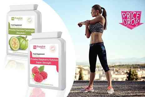 Prowise Healthcare - One or two month supply of Garcinia Cambogia Absolute plus and Raspberry Ketones Super Strength capsules - Save 73%