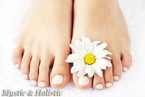 Mystic & Holistic - 1 hr foot treatment inc. sea salt foot scrub, pedicure and reflexology session - Save 75%