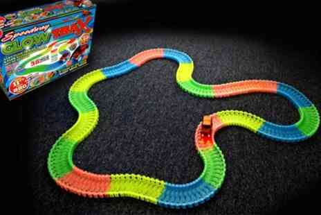 Groupon Goods Global GmbH - One or Two Speedway Glow Trax 220 Piece Race Sets - Save 60%