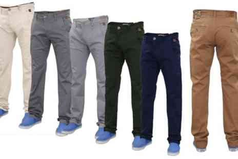 Groupon Goods Global GmbH - Mens Western Style Chino Trousers - Save 0%