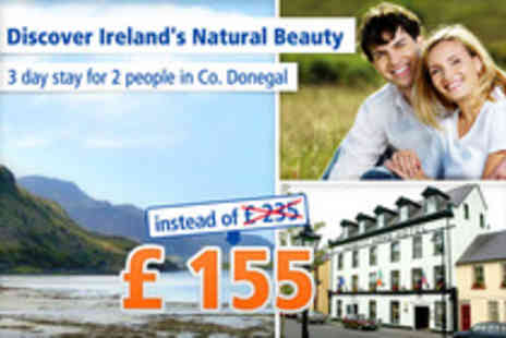 Nesbitt Arms Hotel - The charm of Ireland in Ardara & Donegal for 3 days for 2 - Save 34%