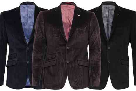 Groupon Goods Global GmbH - Mens Velour Look Blazer - Save 0%