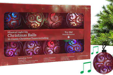 Craze - Musical Baubles With 16 Melodies - Save 50%