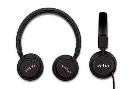 Deals Direct - Pair of Veho ZB 5 on ear wireless Bluetooth headphones - Save 32%