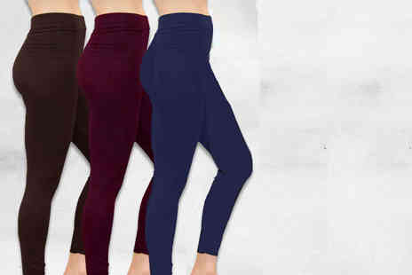 Nothing New 2 Wear - Two pack of fleece lined leggings choose from three colours - Save 80%