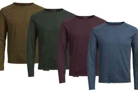 Groupon Goods Global GmbH - Mens Side Crew Neck Knitted Pullover in Four Colours - Save 0%