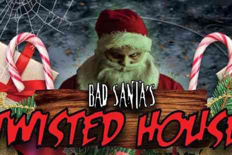 Walsall Scare Maze - One, two or four tickets to Bad Santas Twisted House on 16 To 23 December - Save 18%