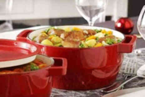 Mahahome - Pyrex Gloss Red Cast Iron Oval Casserole Dish - Save 58%