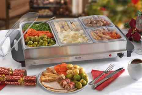 Groupon Goods Global GmbH - One or Two Cooks Professional Buffet Servers and Warming Trays - Save 75%