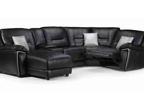 Groupon Goods Global GmbH - One, Two or Three Seats Henry Leatheraire Sofa Collection - Save 49%