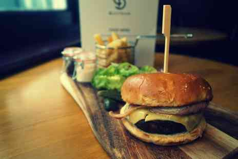 Bottega Bar - Bottega 100% Beefburger with Chips for Two or Four - Save 41%