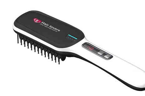 Hair Extension Lovers - Next Gen 3 in1 Hair Straightening Brush 4 Colours - Save 85%