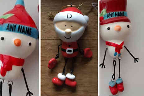 MC California - Personalised Christmas Decorations in Three Designs - Save 62%