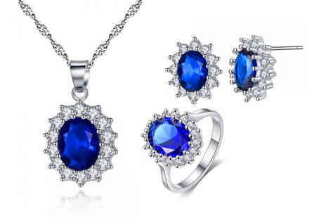 Solo Act - CZ September birthstone jewellery set - Save 80%