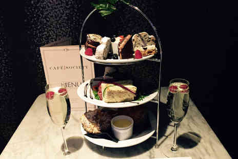 Cafe Society - Afternoon tea for two or include a glass of Prosecco - Save 0%