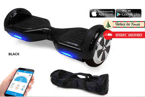 EveMotion GmbH - Hoverboard with carry case choose from nine colours plus Optional Next day Delivery - Save 55%