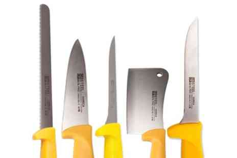 Groupon Goods Global GmbH - Beta Professional Five Piece Knife Set With Free Delivery - Save 0%