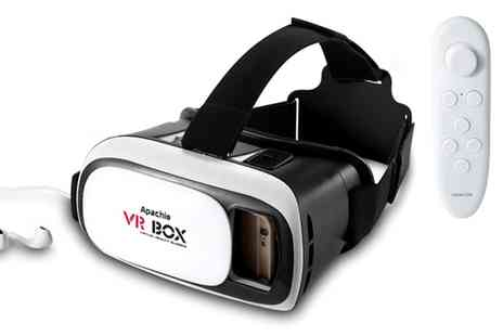 Groupon Goods Global GmbH - Vr One or Two Pairs of Apachie Virtual Reality 3D Headset with Optional Bluetooth - Save 80%