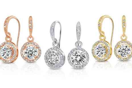 Neverland Sales - One or Two Pairs of Neverland Sales Liberty Earrings with Crystals From Swarovski With Free Delivery - Save 84%