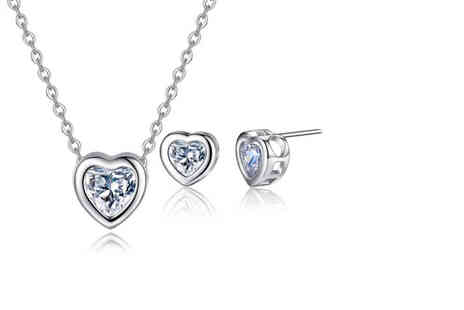 Your Ideal Gift - Two piece heart within a heart jewellery set - Save 88%