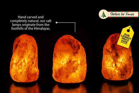 Magic Salt - 2 or 3kg salt lamp or 3 to 5kg lamp or 5 to 7kg lamp - Save 72%