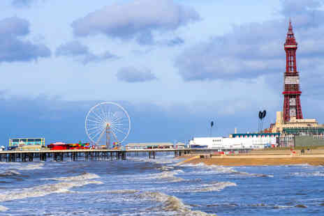 Garveys Promenade Hotel - One or two night Blackpool seafront hotel trip including breakfast, dinner and wine for two - Save 45%
