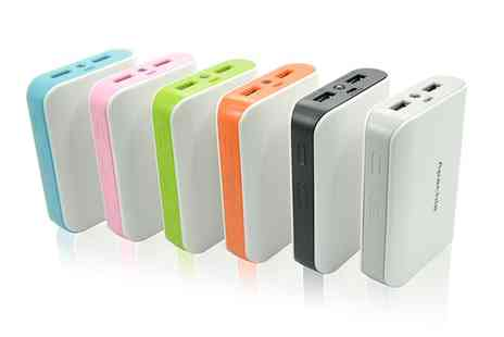 Groupon Goods Global GmbH - 5200mAh Dual USB Port Smartphone Power Bank - Save 72%