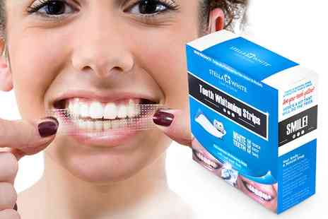 Groupon Goods Global GmbH - One, Two or Three Packs of 28 Stella White Teeth Whitening Strips - Save 86%
