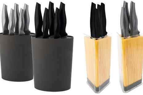 Groupon Goods Global GmbH - Davis and Grant Five Piece Knife Set, Knife Block or Both - Save 0%