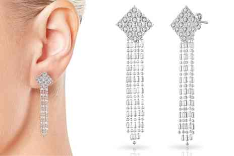 Groupon Goods Global GmbH - One or Two Pairs of Philip Jones Crystal Chandelier Earrings - Save 83%