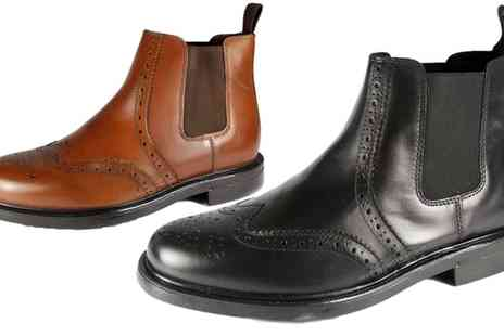 Groupon Goods Global GmbH - Oaktrak Appleby Mens Leather Brogue Boots - Save 50%