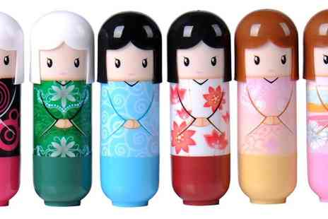 GetGorgeous - Set of three kimono doll fruit flavoured lip balms - Save 85%