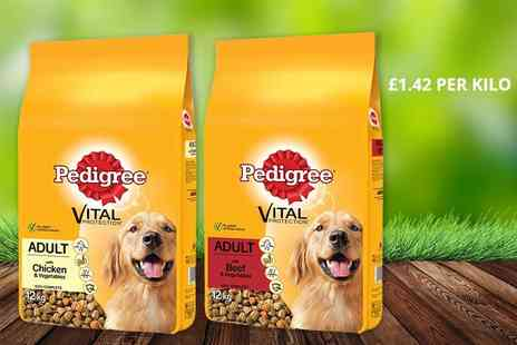 Trojan Electrical - 12kg pack of Pedigree Vital Protection dry dog food - Save 0%