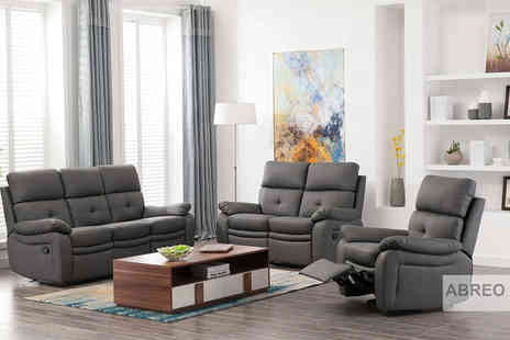 Abreo - One seater Padstow grey buttoned recliner - Save 41%