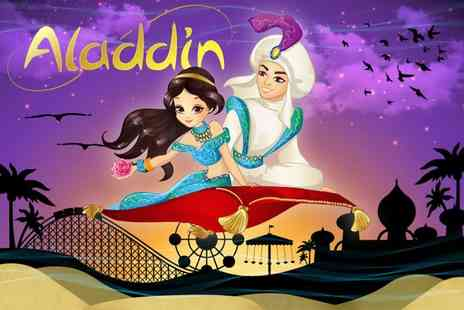 Gullivers - Christmas Aladdin pantomime ticket with theme park entry head over on 29th or 30th December - Save 0%