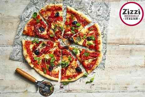 Zizzi - Three course meal for two including a glass of wine each - Save 41%