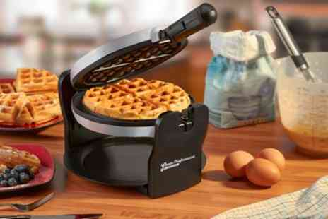 Groupon Goods Global GmbH - Cooks Professional Rotary Waffle Maker in Choice of Colour - Save 64%