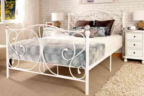 Groupon Goods Global GmbH - Crystal Bed Frame with Optional Mattress With Free Delivery - Save 79%