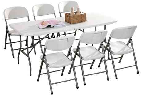 Groupon Goods Global GmbH - 6ft Folding Table - Save 0%