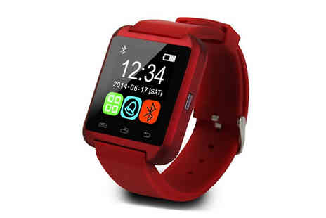 Goods Direct - Bluetooth Smartwatch and Optional Headphones Bundle - Save 91%