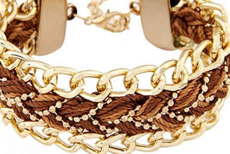 Romatco - Plaited Chain Bracelet Choose from Five Colours - Save 80%