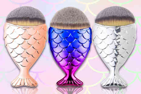 Jazooli - Mermaid makeup brush - Save 63%