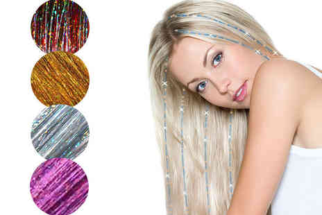 Forever Cosmetics - Three pack of hair tinsel bling extensions choose from four colours - Save 91%